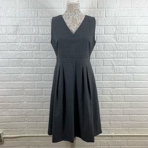 J. Crew Fit Flare Gray Super 120s Wool Dress 12